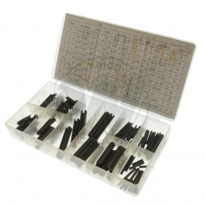 Parts Tray - 120pc Roll Pin Assortment - 30 sizes