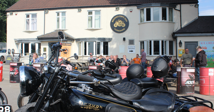 NEWS: JOHN NEWMAN HEADED OVER TO THE SQUIRES CAFE TWO STROKE MEET UP - GOOD TIMES