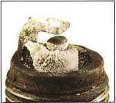 Spark Plug with deposits